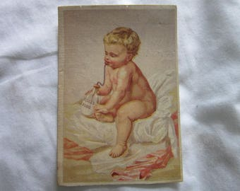 Antique Victorian Trade Card Ridges Food  Blanc Mange Baby Food