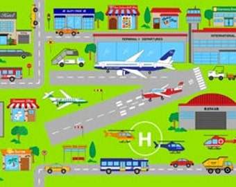 """At The Airport Panel from Northcott's Connector Playmats Collection - 23.5""""x44"""""""