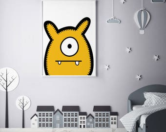 "Monster Poster Print Wall Art by BABUA – ""Jack"" | A4 A3"