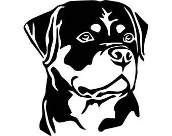 Rottweiler Clipart Etsy