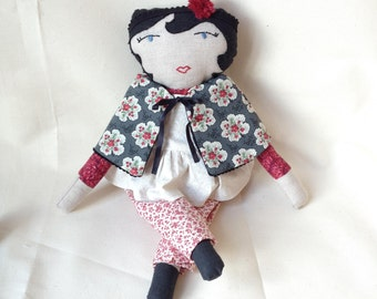 Folly Mae cloth doll / rag doll / heirloom gift for girl / one of a kind art doll / waldorf-inspired cloth doll with accessories / AVELINE