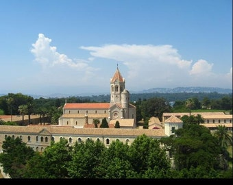 Saint-Honorat Photography, Monastery Photography, Historic View,  Cannes Photography, 8x10, 5x7
