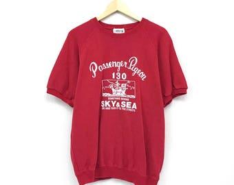 Passenger pigeon crewneck short sleeves pullover jumper big print spell out logo sweatshirts / streetwear /