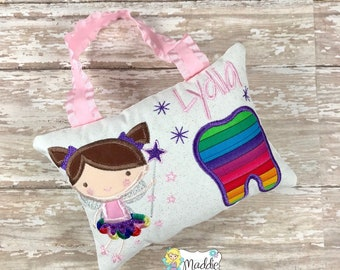 Girl Tooth Fairy Pillow, Tooth Fairy Pillow, Tooth Pillow, Girls Tooth Pillow, Tooth Fairy, Personalized Tooth Fairy Pillow, Brielle