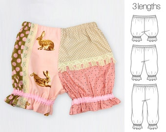 Diaper Cover Pattern, Bloomers Pattern, Baby Patterns,  Baby sewing patterns, PDF, Baby Clothes Patterns, Baby Pants Pattern, PATCHWORK