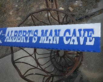 Man Cave Sign, Wooden, Rustic, Plaque, Custom Carved, Custom Designed, Various Woods, Unlimited Color Combinations,