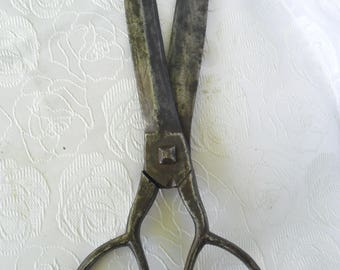 "32sm/12.8""LARGE Original antique metal hand wrought iron forged Sewing scissors 1840 year"