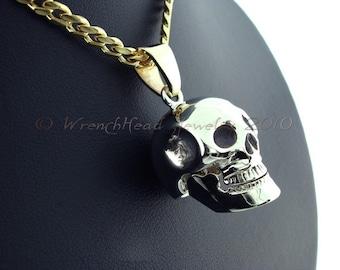14KT Gold Skull Pendant