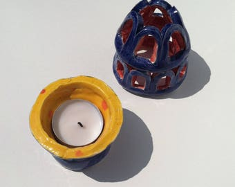 Handmade Ceramic Tea Light Candle holder
