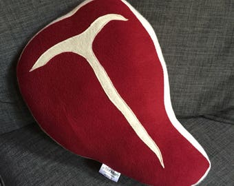 SALE!!!  Ready to Ship Prime Cut Steak Pillow
