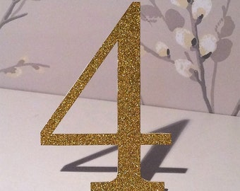 Table Place Number - Gold