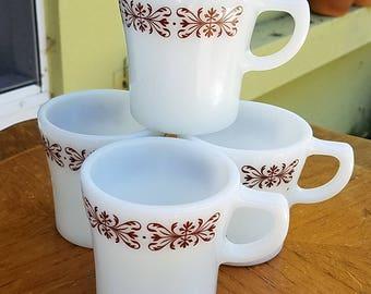 Anchor Ware Vintage Coffee Cups, EUC, 1970's