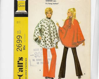 McCall's Misses' and Junior Poncho in Two Versions and Pants Pattern 2699