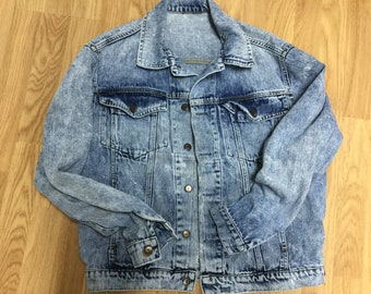 80s Jean Jacket: Psychedelic Child CWZodY