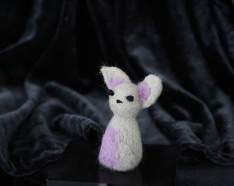 Bat needle-felt creature
