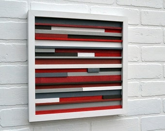 Wood Wall Art - Sculpture Reclaimed Wood - Abstract Painting on Wood - FREE SHIPPING!