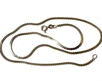 Sterling Silver Serpentine Link 18 Inch Made in Italy Chain / Necklace