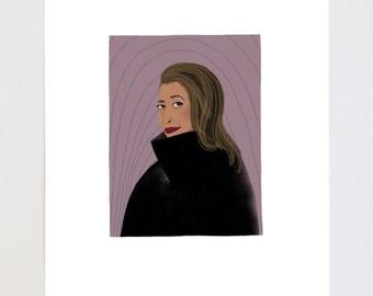 Zaha Hadid Portrait Illustration Art Print