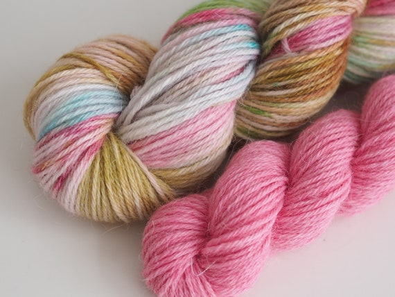 Alpaca and Wool Sock Yarn Set - The Pink Couple