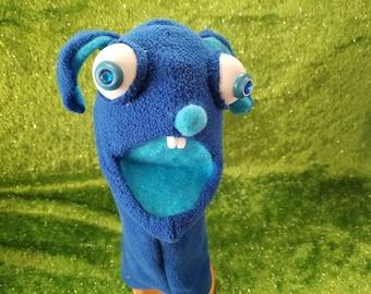 Bizarre Blue Bunny hand puppet