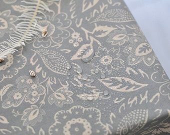 Laminated Cotton Linen Fabric - Grace in Gray - By the Yard 92876