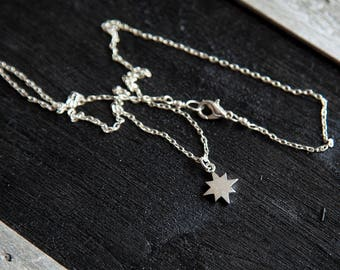 Star Necklace, Wanderlust Necklace, Constellation Necklace, Celestial Necklace, Silver Star Necklace, Gift for Students, Inspirational charm