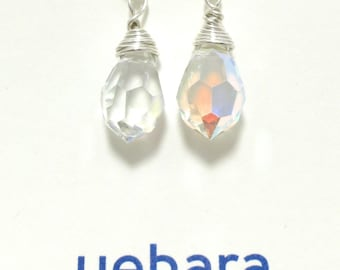 "Earrings, ""GLISTEN"" Crystal and Sterling Silver Earrings"