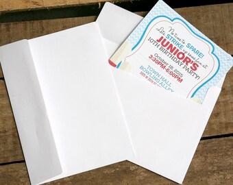 White Envelopes - Fits 5x7 Invitations