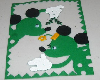Mickeys card front embellished - 1 to a pack