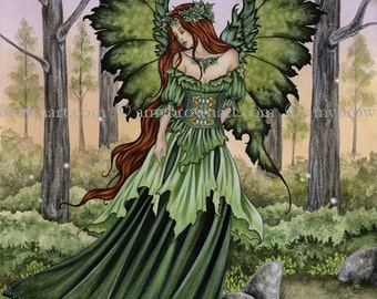 5x7 Lady of the Forest fairy PRINT by Amy Brown