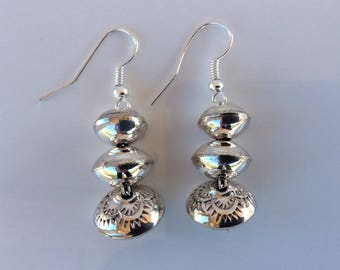 Native American Navajo Sterling Silver Dangle earrings