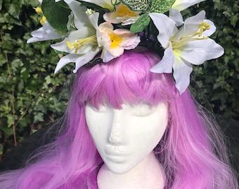 Flower Crown Festival Shells Headress