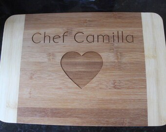 Engraved cutting board, personalized cutting board, monogram cutting board, wedding present, anniversary present, custom cutting board