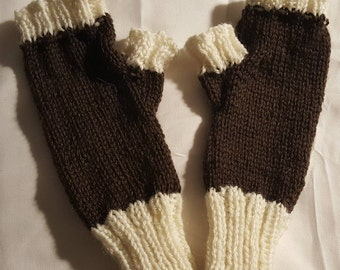 Hand Knit Fingerless Mitts