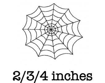 Halloween cobweb spiderweb machine embroidery design 2/3/4 inch instant download