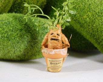 Miniature Mandrake root Medieval Harry Potter apothecary