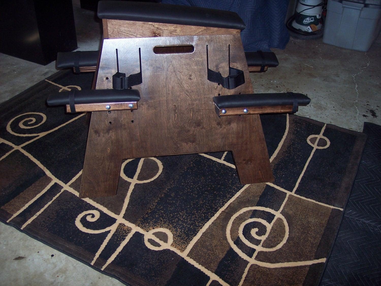 Dungeon sex furniture bdsm spanking bench walnut finish Erotic furniture