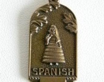 JOSTENS Spanish Senorita Language Charm Pendant Necklace