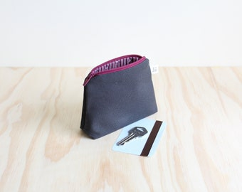 Coin purse Black and Burgundy