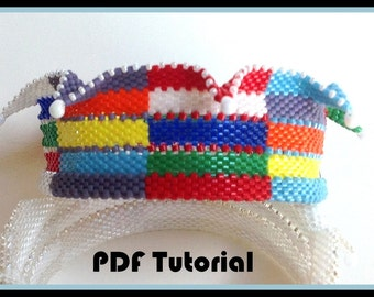 PDF Tutorial for Jester Multi-colored Jester Bracelet