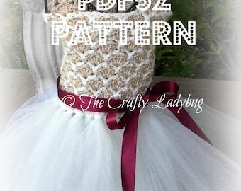 Crochet and tulle tutu dress III pattern - PDF52 digital download