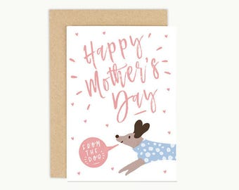 Happy Mothers Day, Dog Lover Card, Mother's Day Card from the Dog, Dog Mum Card, Dog Mother's Day Card,  Funny Dog Card, Dog Mom Card,