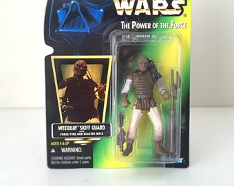 Weequay Star Wars Action Figure with Blaster, Jabba the Hutt Skiff Guard Alien Return of the Jedi, 90s Kenner Star Wars Toy Gift for Kids