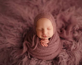 Mohair Bonnet or Wrap
