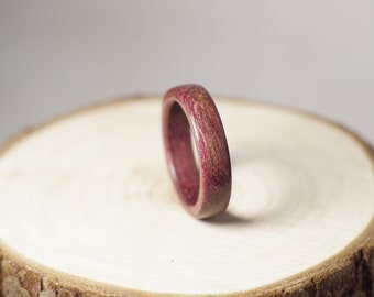 Purpleheart wooden ring