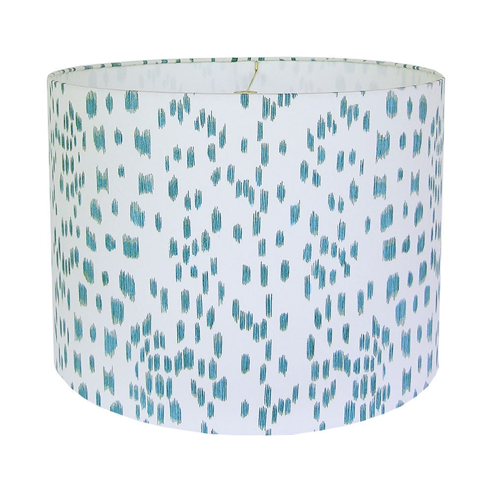 Aqua Lamp Shade Custom Lampshade Blue Lampshades Les