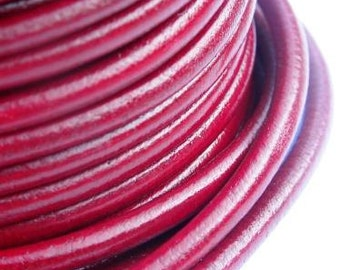 Regaliz licorice Dark red oxblood leather cord 4.5mm, selling by the meter