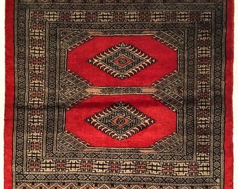 Bukhara Square Hand Knotted Wool Rug