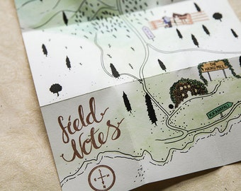 Custom Illustrated & Letterpress Invitation - Unique Wedding Stationery