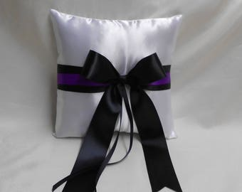 Wedding Accessories White Black Purple Ring Bearer Pillow Your Colors